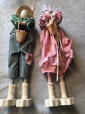 Boy and Girl Long Leg Country Rabbits