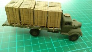 Commer Q4 Flatbed With Load Army Military White Metal Toy Built Lorry Truck
