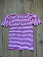 TU (Sainsbury's) girls' pink striped t-shirt (3 years), pre-owned.