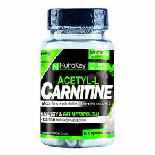 Nutrakey ACETYL-L CARNITINE 1000mg 60 capsules - ENERGY, WEIGHT LOSS, FAT BURNER