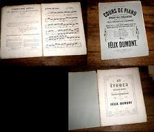 25 études mécaniques variées progressives pour piano Op.16 Cahier 5 Dumont 1866