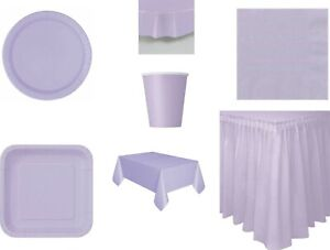 Solid Colours Party Plates Napkins Tablecovers Tableskirts Cups 24 colours