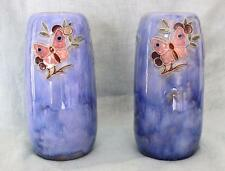 Pair of 1930's Art Deco Royal Doulton Lambeth Minnie Webb Butterfly Vases