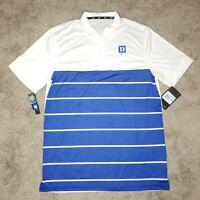 Nike Duke Blue Devils Polo Shirt XL Dri Fit Collared Performance Golf Mens NWT