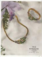 Publicité ancienne bijou Mauboussin 1947 issue de magazine