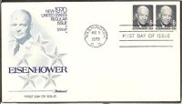 US SC # 1393 Eisenhower FDC. Pair, Fleetwood Cachet.