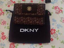⭐ DKNY ⭐ Donna Karan Marrón Francés Cartera Bolso ⭐