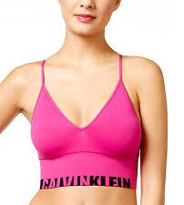 NEW Genuine CALVIN KLEIN Pink Seamless Longline Bralette Sports Bra Size XS