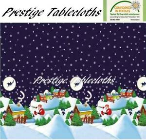 Christmas PVC Vinyl Wipe Clean Tablecloth - ALL SIZES - Code: F185-1