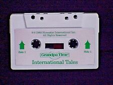 HOMESTAR GRANDPA TIME CLOCK AUDIO CASSETTE TAPE TITLED INTERNATIONAL TALES WORKS