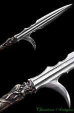 Hook Sword Voulge Battle Overlord Spear Pike Pattern Steel Blade Sharp #2302