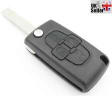 FOR Peugeot 4 Button 1007 Citroen C8 Remote Key With HU83 Groove Blade & LOGO