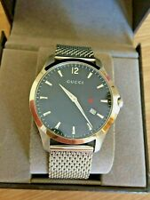 GUCCI GENUINE GENTS G TIMELESS WATCH MODEL 126.3 RRP £695 BOXED
