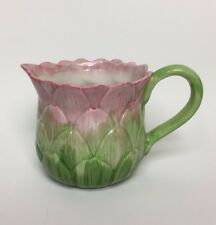 Vintage Fitz & Floyd Vegetable Pitcher Artichoke Measuring Cup Hand Painted
