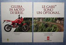MOTOSPRINT990-PUBBLICITA'/ADVERTISING-1990- GILERA RC 125 (2 fogli)