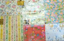 Vintage 70s Baby Shower Child's Wrapping Paper Ephemera Scrapbooking Adorable