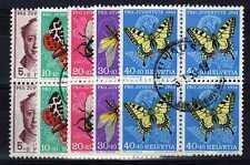 SUISSE SWITZERLAND Yvert n° 553/557 oblitéré - Blocs de 4