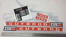 Gutbrod 1050 garden tractor stickers