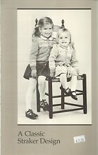 Song of Norway Cardigan Knitting Pattern Peggy Straker #C877-C Childs Size 2-12