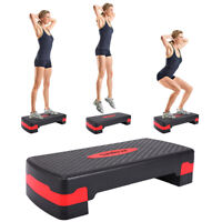 """27'' Cardio Fitness Aerobic Step Adjust 4"""" - 6"""" Exercise Stepper w/Risers"""
