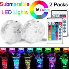 Luce LED impermeabile luce telecomando a batteria subacquea ventosa laghetto doccia luci LED con telecomando per corrente della batteria 1+1