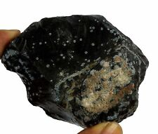 Black Snow Flakes Obsidian 595 Ct Natural Untreated Gemstone Rough Discount Sale