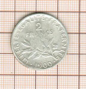 2 francs semeuse argent année rare 1900