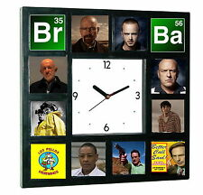 Breaking Bad Heisenberg Jesse Walter White Hank Saul Mike Clock with 12 pictures