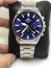 Casio Edifice Men's Blue Dial Silver-Tone Bracelet 42mm Watch EFV-510D-2A-H25
