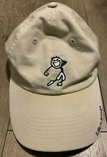 Life is Good Adjustable Strap Back Golf Swing Hat Light Tan