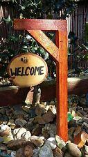 Fairy Pixie door signpost CHOICE personalised handmade garden ornament