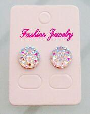 Dianty Sparkly Ab Crystal Diamante Bridal Diamond Stud Rhinestone Earrings