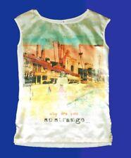 Chic Haut pour Femmes Chemise Tunique Blouse Shirt Gr. S 36