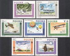 Poland 1984 Aviation/Planes/Air Balloon/Aircraft/Pilots/Flight 7v set (b9757)