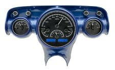 1957 Chevy Bel Air 210 Black Alloy & Blue Dakota Digital VHX Analog Gauge Kit