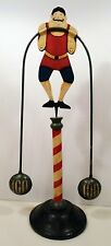 UNIQUE FOLK ART SWINGING WEIGHTLIFTER
