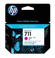 HP 711 (3 Pack) Magenta Ink Cartridge (29ml) for Designjet T120/T520 Large