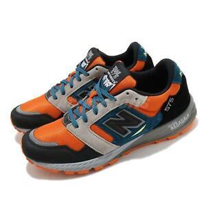 New Balance 575 Made In England UK Black Orange Grey Men Casual Shoes MTL575OP D