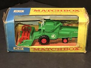 1960's Matchbox K-9 KING SIZE CLAAS COMBINE HARVESTER - Excellent - farm tractor