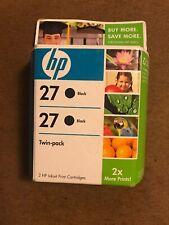 HP 27 - 2 Black Ink NIB Ink Cartridge Sealed Box - Expired