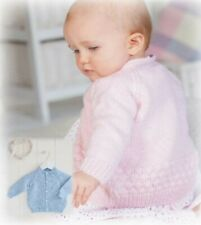 Knitting Pattern For Baby/'s Cardigans /& Waistcoat D.k Yarn Sizes 12-24inch B11