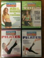 4 Caribbean Workout DVDs, Pilates, Yoga, Abs, Buns, Thighs, shelly Mcdonald, New