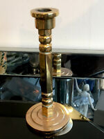 Art Deco Very Heavy 7 Inch Solid Brass Single Candlestick Candle Holder 689g