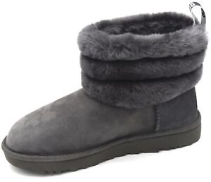 UGG AUSTRALIA WOMAN ANKLE BOOTS BOOTIES WINTER CASUAL CODE W FLUFF MINI QUILTED