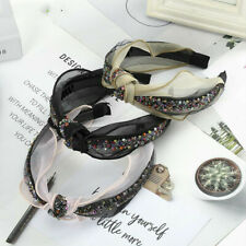 Beautiful Women's Knot Wide Headband Hair Band Lace Crystal Alice Hair Accessory