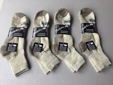 New Men's Ballston 70% Merino Wool Blend Ankle Socks 4 Pair Browns #1040L