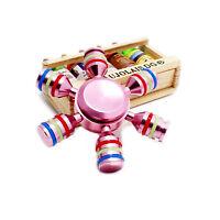 Colourful Hand Finger Gyro Fidget Spinner Toys Focus EDC For adults Rose gold