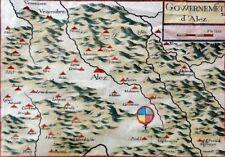 Gowernement d'Alez - kolor-Landkarte / Kupferstich Nicolas Tassin, ca 1635 ND-??