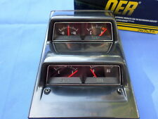 NEW 1968-1974 Nova & Camaro Black Face Console Gauge Cluster OER GM Licensed