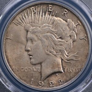 1922 D PEACE DOLLAR PCGS MS63 CHOICE SURFACES WITH A PLEASING EVEN GOLDEN OLIVE